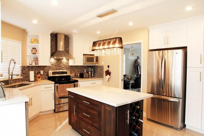 White Cuisine Contemporaine Contemporary Kitchen