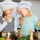 kids cook in kitchen