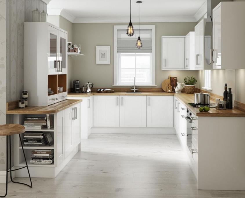 Modern Kitchen White Cuisine Moderne