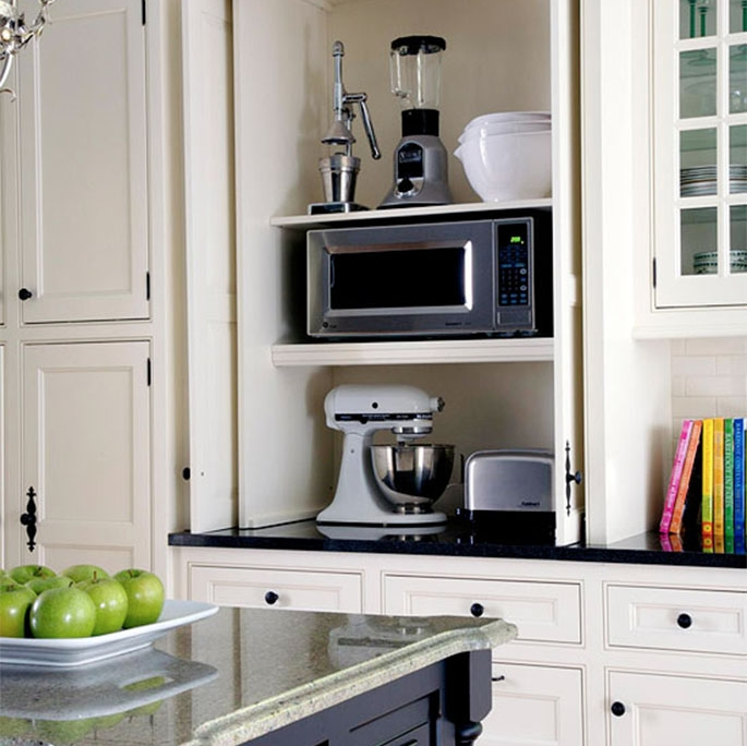 Appliance garage functional contemporary kitchens