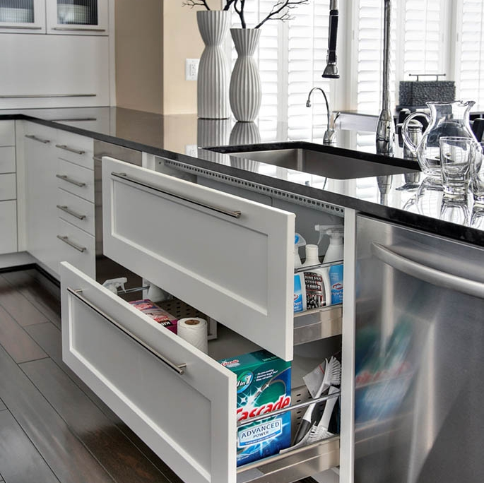 Undersink Pullout Drawers contemporary kitchens