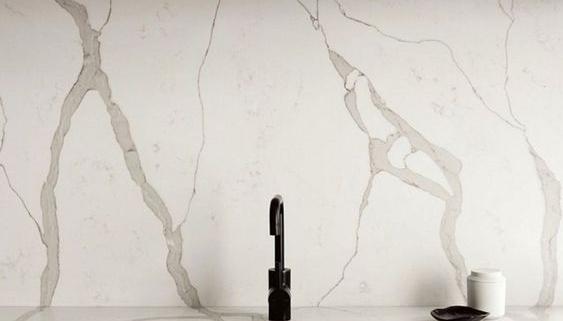 Calacatta Quartz Backsplash and Countertops