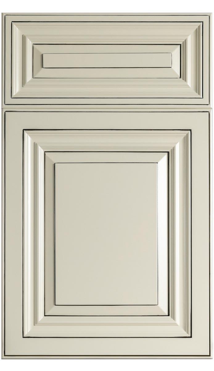 Traditional Ivory White Wood Kitchen Cabinet - Hamilton