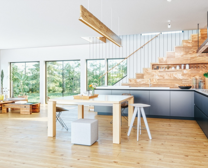 Scandinavian kitchens: calm and inviting tone