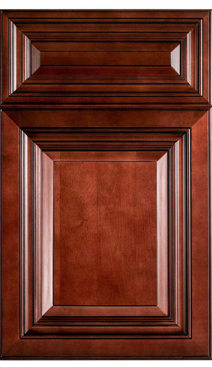 Traditional Cherry Brandywine Wood Kitchen Cabinet - Cambridge