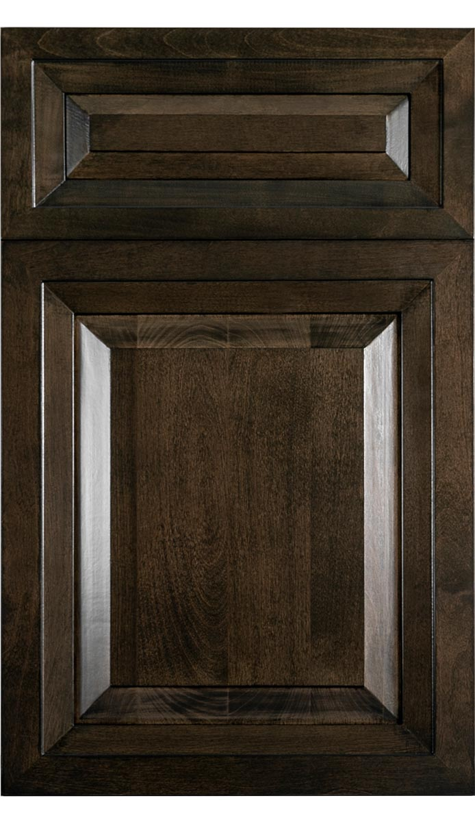 Traditional Charcoal Wood Kitchen Cabinet - Chateau