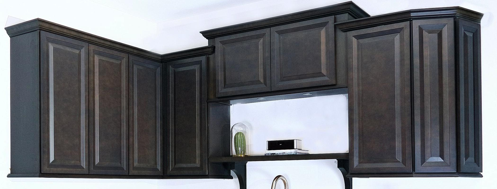 Traditional Charcoal Wood Kitchen Cabinet Montreal