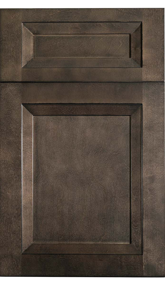 Transitional Charcoal Wood Kitchen Cabinet - Oxford