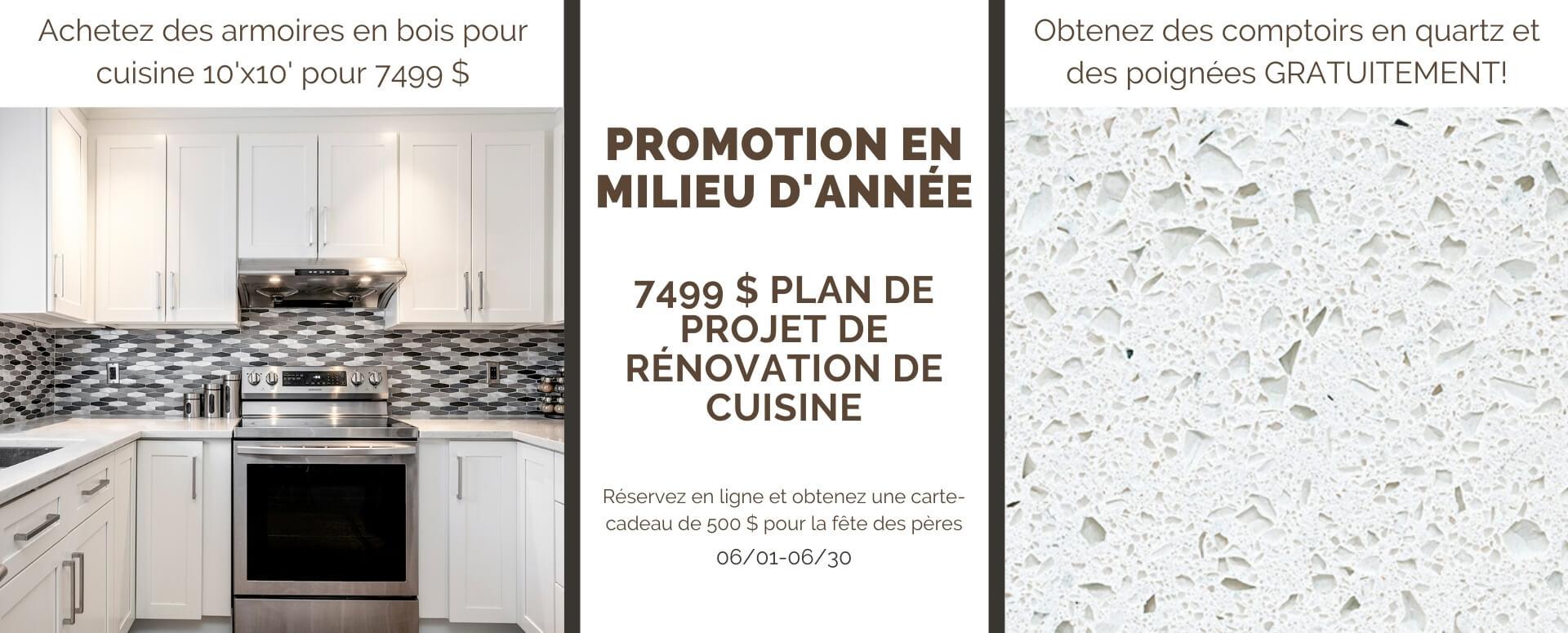 armoires de cuisine Promotion de milieu d'année Montréal